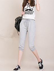 Women's Solid Blue / Red / Black / Gray Active / Harem Pants,Casual / Day / Simple