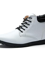 Для мужчин Ботинки Удобная обувь Полиуретан Весна Лето Осень Повседневные Удобная обувь На плоской подошве Белый Черный Коричневый