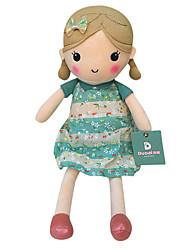 echte Frühlingsmädchen Puppe Plüschspielzeugpuppe Baby-Puppe Puppen Mädchen Geschenk hellblau Blumenrock Sitzhöhe 35cm beschwichtigen