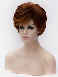 o novo cabelo castanho peruca velha de 5 polegadas vermelho