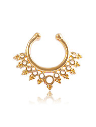 Women's Body Jewelry Nose Rings/Nose Stud/Nose Piercing Nose Piercing Stainless Steel Unique Design Fashion Jewelry Silver Rose Golden