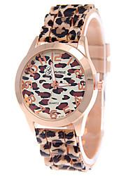 Women's Leopard Band Analog Quartz White/Coffee Case  Wrist Watch Jewelry Fashion Watch