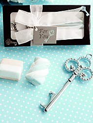Recipient Gifts - 1Piece/Set , Silver-Finish Key Design Wine Opener Wedding Presents, Party Favors