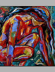 Colorful Knife Painting Pop Art Nude People