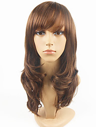 Medium Length High Quality Natural Straight Hair Synthetic Wig with Full Bang