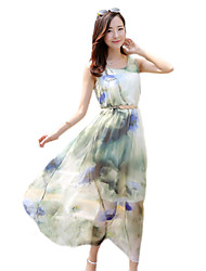 2016 Summer New Women's Bohemian Beach / Seaside Holiday Chiffon Dress