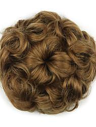 Kinky Curly Brown Hepburn Rope Human Hair Weaves Chignons 2005