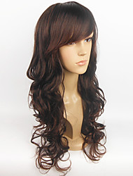Hot Sale European Wig Black Wavy Women Full Synthetic Wig