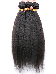 Slove Hair 7A Kinky Straight Virgin Hair 3 Bundles/Lot, Cheap Unprocessed Peruvian Hair Human Hair Bundles