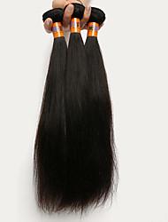 """3 unidades / lote 8 """"-22"""" peruano cabelo virgem trama do cabelo reto 100% cabelo humano remy não transformados 8a tece"""