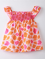 Girl's Print Dress,Cotton Summer Multi-color