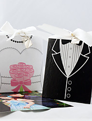 Recipient Gifts - 1 Piece/Set, Bride Wedding Dress and Groom Tuxedo Photo Album Favors with charm Wedding Presents