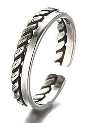 Anéis Vintage Diário / Casual Jóias Prata de Lei Feminino / MasculinoAnéis Meio Dedo / Anéis Grossos / Aneis de Dedo do Pé / Anéis para