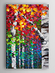 Hand Painted Oil Painting Landscape Abstract Colour ful Tree with Stretched Frame 7 Wall Arts®