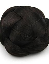 Kinky фигурная черный европы невесты человеческих волос монолитным парики шиньоны SP-130 2/33