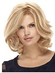 12 pulgadas mujeres recta corta el pelo sintético peluca rubia