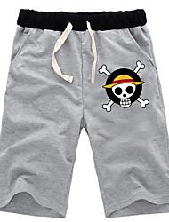 Inspirado por One Piece Nico Robin Anime Fantasias de Cosplay Tops Cosplay / Bottoms Cor Única Preto / Cinzento Shorts