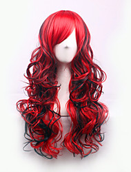 Best-selling Europe And The United States A Wig And Red Mixed Partial Curly  Hair Wigs