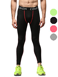 Vansydical Men's Quick Dry Fitness Bottoms Green / Red / Gray / Orange
