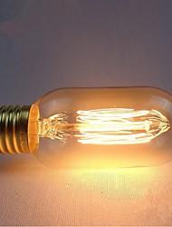 e27 de bulbes 40w soie filament de carbone à incandescence de lumière de t45 autour de la perle