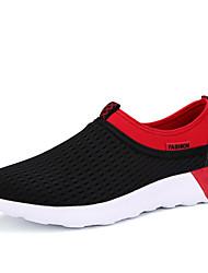 Scarpe da uomo-Sneakers alla moda-Matrimonio / Ufficio e lavoro / Casual / Sportivo / Serata e festa-Tessuto-Nero / Blu / Grigio