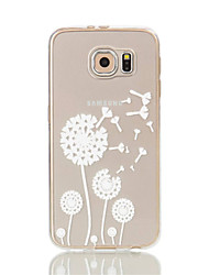 Para Samsung Galaxy S7 Edge Transparente / Estampada Capinha Capa Traseira Capinha Dente de Leão Macia TPU S7 edge / S7 / S6 edge / S6