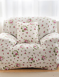 Printed Tight All-inclusive Sofa Towel Slipcover Four Seasons Slip-resistant Fabric Elastic Sofa Cover(Pink Flowers)