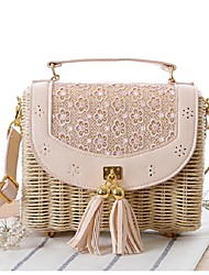 Women-Casual-Straw-Tote-Pink