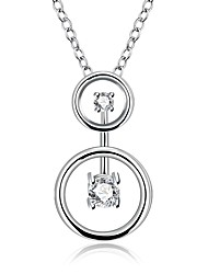 Daniel Wellington 925 sterling silver Geometry with Zircon medal pendant cremation jewelry