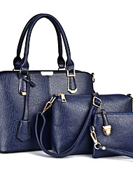 Women PU Formal / Casual / Office & Career / Shopping Tote / Bag Sets Blue / Gold / Black