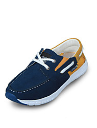 Boy's Spring / Summer / Fall Comfort / Round Toe / Closed Toe Leather / Fabric Casual Flat Heel Split Joint / Gore Navy