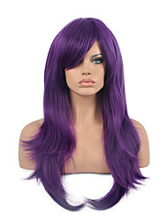 70 Cm Harajuku Anime Colorful Cosplay Wigs Young Long Curly Synthetic Hair Wig Purple Wigs