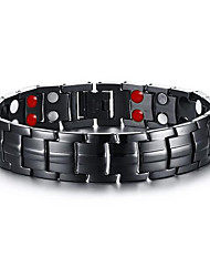 Men's Jewelry Health Care Black Stainless Steel Magnetic Therapy Bracelet Christmas Gifts