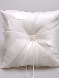 Ring Pillow Satin / Lace Garden ThemeWithRibbons / Faux Pearl