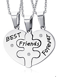 Women's Pendant Necklaces Pendants Heart Stainless Steel Love Friendship Fashion Jewelry For Daily Casual