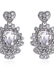 Zircon Gemme Alliage Mode Blanc Bijoux Mariage Soirée 1 paire