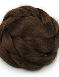 crépus chignons bouclés capless mariée europe brun cheveux humains perruques sp-161 2009