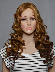 Capless Long Synthetic Blonde Color Wavy Synthetic Womens Wigs
