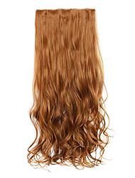 marron Longeur 70cm europe et les etats-unis style chaud cinq clip clip cheveux bouclés cheveux (couleur 27a)
