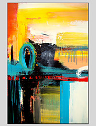Abstract Style Canvas Material Oil Paintings with Stretched Frame Ready To Hang Size 90*60CM