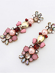 Big Long Crystal Drop Earrings For Women Vintage Earrings Flower Bohemian Style Fine Jewelry Wedding Accessories