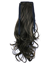 Borwn Length 50CM Factory Direct Sale Bind Type Curl Horsetail Hair Ponytail(Color 8)
