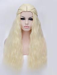 la chanson de glace et de feu l'eau de Javel cheveux synthétiques blonds perruque cosplay