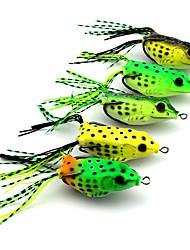 """5 pcs Leurre souple Multicolore 18.9 g/5/8 Once,60 mm/2-3/8"""" pouce,Plastique souplePêche d'appât Pêche au leurre Pêche générale Bateau de"""