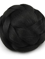 Kinky фигурная черный европы невесты человеческих волос монолитным парики шиньоны SP-161 2