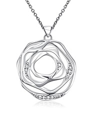 Daniel Wellington 925 sterling silver Hollow Rose Flower medal pendant cremation jewelry