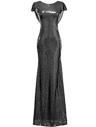 Sereia Vestido Para Mãe dos Noivos Cauda Corte Paetês / Elastâno - Lantejoulas