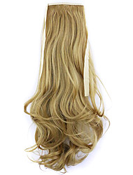 Borwn Length 50CM Factory Direct Sale Bind Type Curl Horsetail Hair Ponytail(Color 27X)