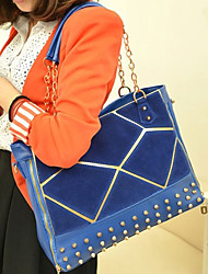 Women PU Casual / Office & Career / Shopping Tote Blue / Red / Black