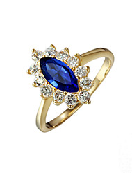 Fashionable women gold plated party Statement Ring